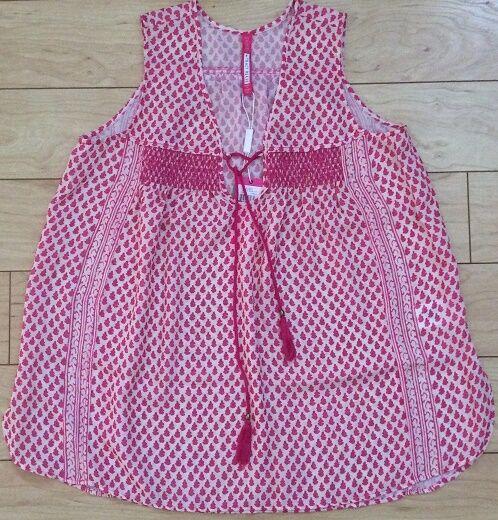Plenty Tracy Reese Anila Tassel Tunic Blouse Sz X-Small Rosa NW ANTHROPOLOGIE Ta