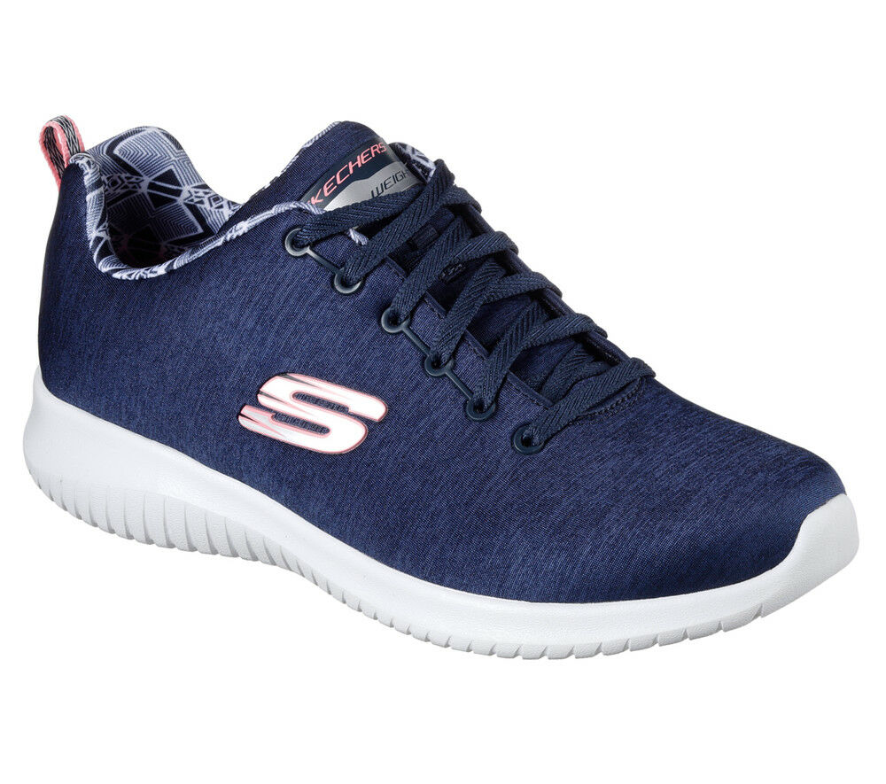 NUOVO Skechers da donna Sneakers Ultra Turn Scarpa Memory Foam Ultra Sneakers Flex-First Choice Blu fe030f