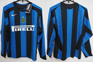 Details about 2005-2006 Inter Milan Internazionale Jersey Shirt Maglia Home Pirelli L/S S BNWT