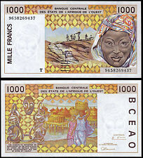 WEST AFRICAN STATES 1000 FRANCS (P811Ti) N. D. (1996) TOGO UNC