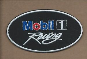 NEW 2 5//8 X 3 1//2 INCH MOBIL 1 OIL IRON ON PATCH FREE SHIPPING