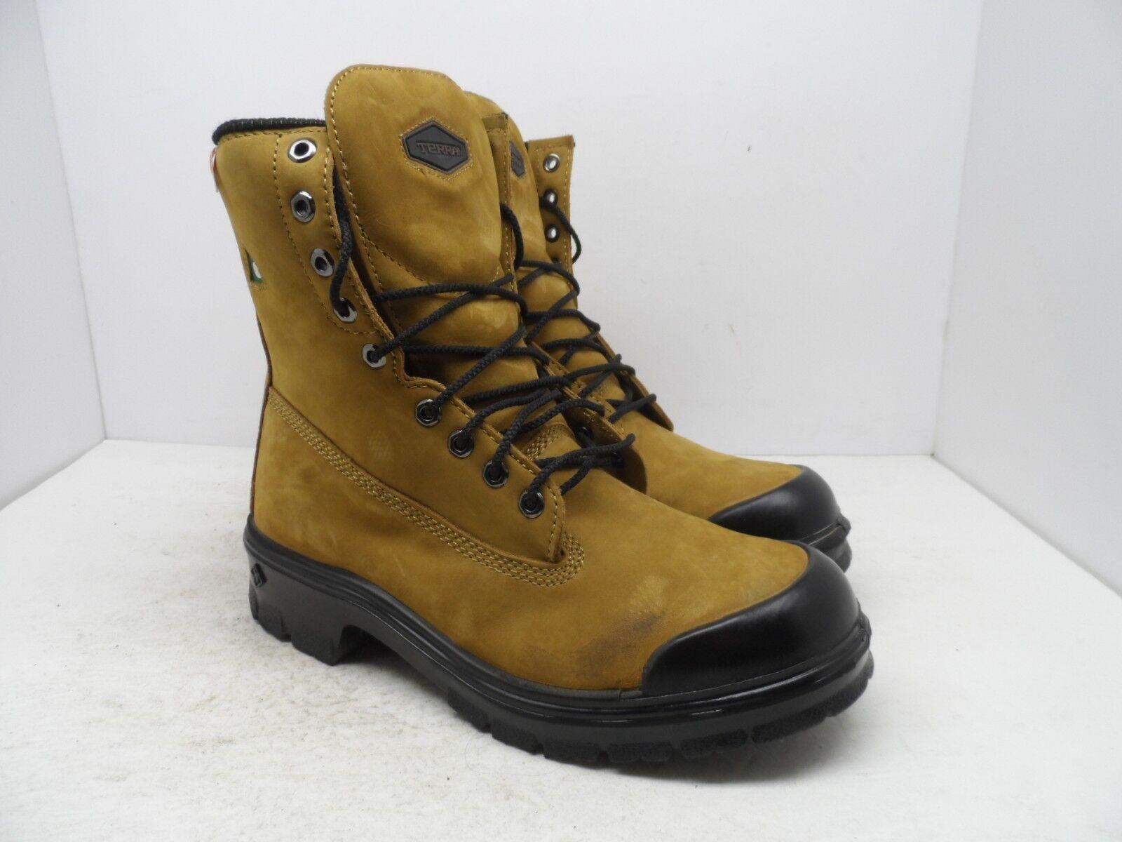 Terra Men's 8  Sentry Steel Toe Steel Plate Work Boots Tan Size 9M