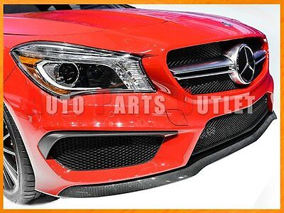 Carbon Fiber Front Lip Cover For 13-16 M-Benz W117 CLA200 CLA250 w// AMG Package