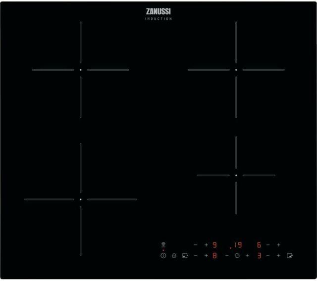 ZANUSSI Hob2Hood ZITN643K Built-in Electric Induction Hob 4 Zones Black - Currys