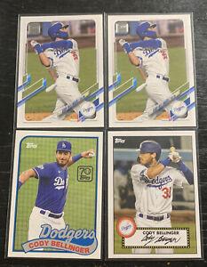 Cody Bellinger Lot(4) 2021 Topps Series 1 Los Angeles Dodgers