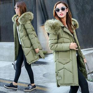1438631b68b85 New Women winter coat Down jacket Ladies fur hooded jackets Long ...