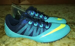 be7fd9c21b5dc NIKE ZOOM RIVAL S 7 Gamma Brave Blue Volt Sprinter Track Spikes NEW ...