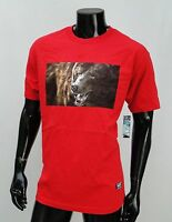 Grizzly Griptape Skateboard Photo Bear Logo Mens Red T Shirt Size Large