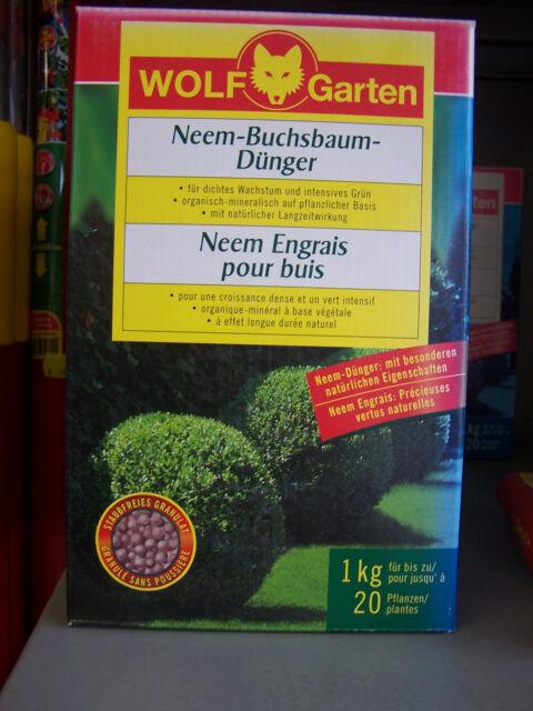 Wolf Neem buchsbaumdünger para Denso Crecimiento y INTENSO Verde