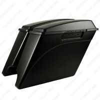 Matte Black 4 Stretched Harley Davidson Saddlebags Extended 1993-2013