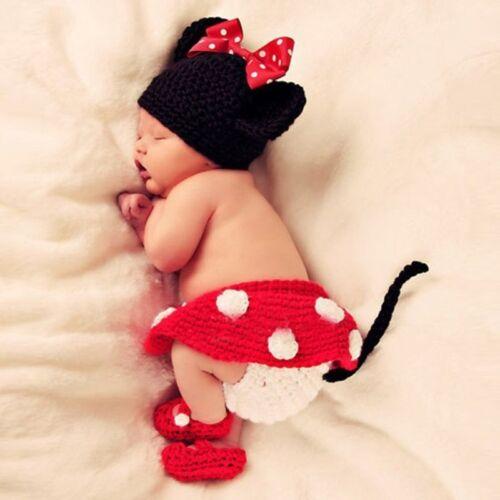 Newborn Baby Girl Boy Crochet Knit Suit Photography Photo Prop Multi Styles