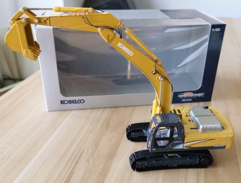 Excavadora Kobelco Excavadora Juguete Diecast 1 50 SK330-8 Vehículo Auto Auto Auto construcción de ingeniería 90dcc8
