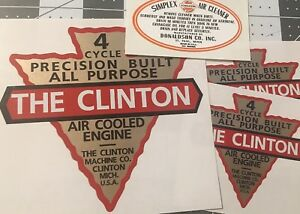 Clinton-Engine-Donaldson-Simplex-1946-Michigan-Doodlebug-Scooter-set-4-decals
