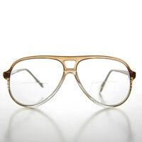 Diopter 1.75 Bifocal Aviator Magnifying Vintage Reading Glasses Brown - Indie
