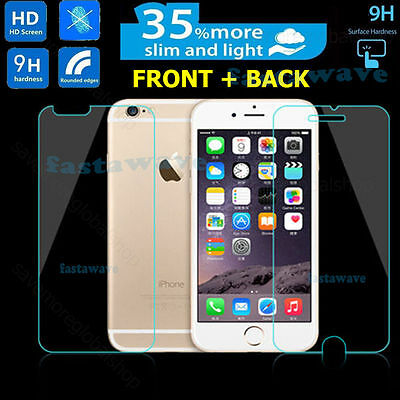 Dedito Genuine Vetro Temperato Proteggi Schermo Per Iphone 7-anteriore E Posteriore 2pcs-
