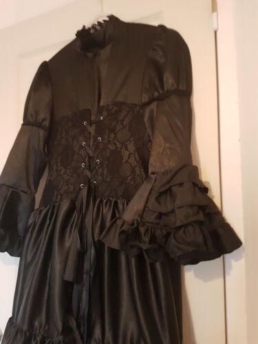 Tournage Gothique 36 Style Luxe Dress Robe Black 38 Victorian Film RwxpF
