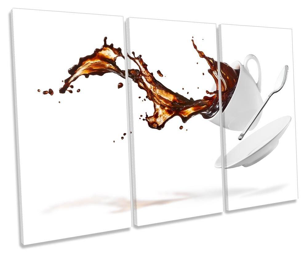 BIANCO TAZZA DI CAFFE 'CAFE' foto TREBLE TELA Wall Art Art Art Print ed900a