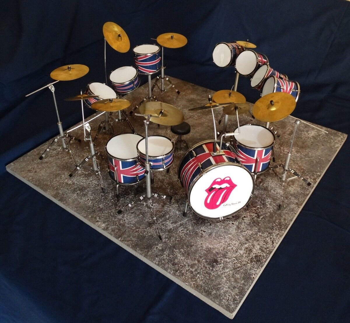 Battery DRUMS ROLLING STONES miniature TOP TOP