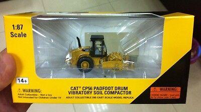 1:87 Caterpillar Cat CP56 PDAfoot Drum Vibratory Soil Compactor 55247 NORSCOT