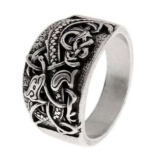 Mens Viking Nordic Dragon Punk Biker Rock Outlaw Fashion Ring