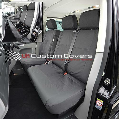 VW TRANSPORTER T6 & CARAVELLE TAILORED WATERPROOF SEAT COVERS 2015 ON 103