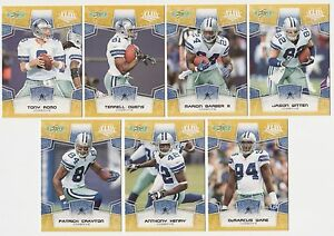 x4-2008-Super-Bowl-43-DALLAS-COWBOYS-Team-Set-lot-Rare-Variations-Romo-Witten