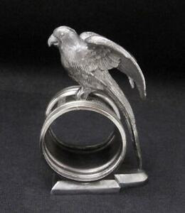 ANTIQUE-REED-amp-BARTON-FIGURAL-PARROT-NAPKIN-RING-1136-AMERICAN-SILVER-PLATE