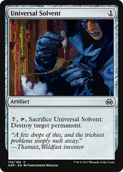 UNIVERSAL SOLVENT Aether Revolt Magic MTG cards (GH)