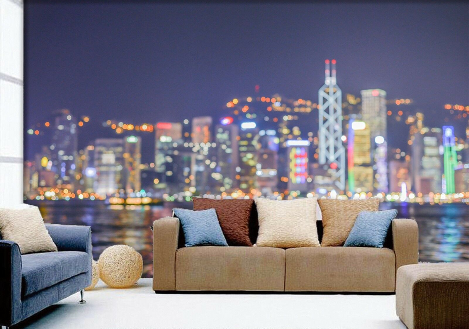 3D Night City Lights 745 Wallpaper Mural Paper Wall Print Wallpaper Murals UK