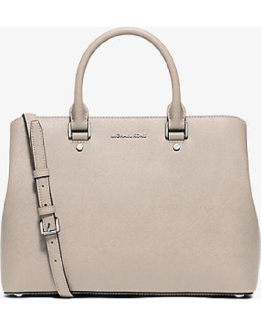 Michael Kors Savannah Large Saffiano Leather Satchel Bag Brick
