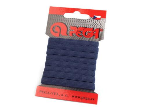 5m Gummiband 7mm dunkelblau Gummi Hosengummi