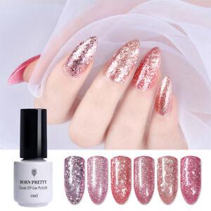 5ml Born Pretty Rose Gold Glitter Shiny Nail Art Soak Off UV Gel ... 1935b1972646