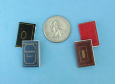 Dollhouse Miniature Set of Naughty /& Nice List Books with Gold Trim