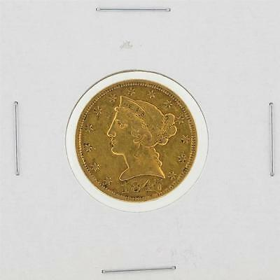 1847 $5 No Motto XF Liberty Head Half Eagle Gold Coin Lot 331