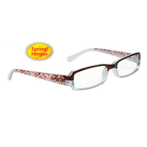 2eac13888cfc Reading Glasses +2.50 New Fashion Designer Readers Women Red Clear ...