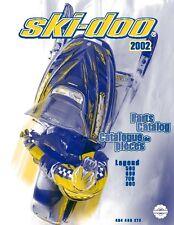 Ski-Doo parts manual catalog book 2002 LEGEND 600, LEGEND 700 & LEGEND 800