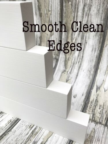 pre painted mdf stacking blocks 4 tiers ***PROFESSIONAL PAINT FINISH***
