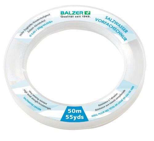 BALZER Salzwasservorfach Schlagschnur Meeresvorfach  0,60mm 20kg 50m