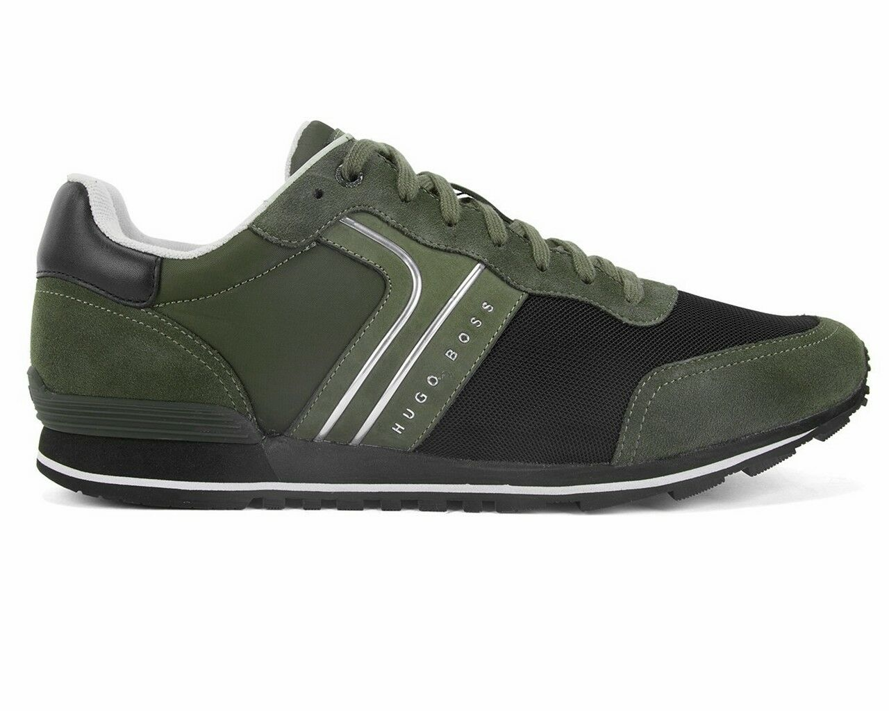 Sale Hugo Boss Parkour Runn Nymx 50317133 308 Mens Trainers Dark Green shoes