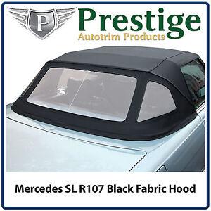 Mercedes SL R107 Car Hood Hoods Soft Top Tops Roof Black Mohair 1971-1989