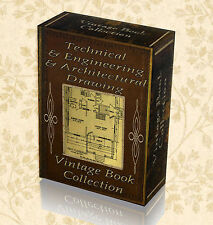 Vintage Books Drafting Engineering Technical Drawing Draftsman old Set Pen 273