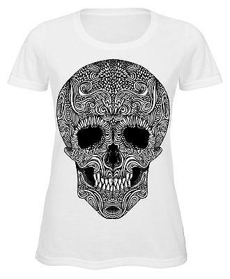 Men/'s T-Shirt Goth Punk Biker Rock Tattoo Skulls White All Sizes By Let/'s Rock