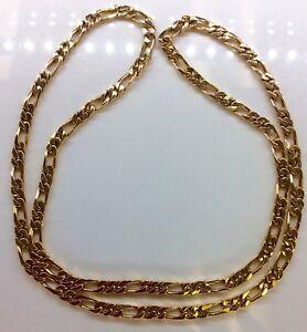Original-1980-039-s-27-034-Rose-Gold-Figaro-Chain-52-1g-18k