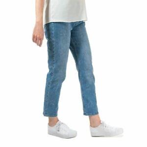 Women's Ted Baker Lurra Star Abrasion Zip Fly High Rise Boyfriend Jeans in Blue