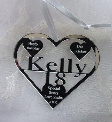 18th Compleanno Regalo Personalizzato Con Nome, Data Di Nascita Kelly, Ricordo Hand Made- Stile (In) Alla Moda;
