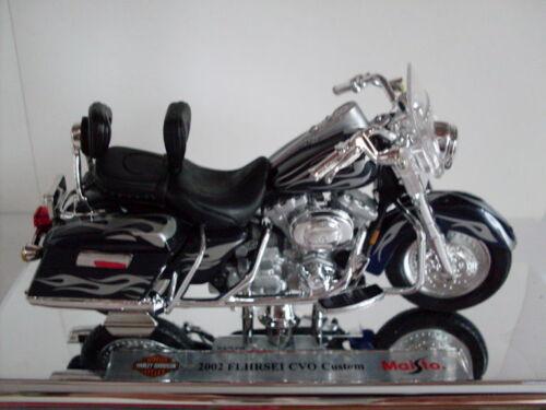 30 2002 FLHRSEI CVO custom Maisto Moto 1:18 HARLEY Davidson Modello