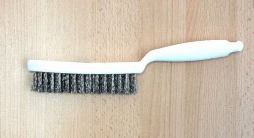 Plastique Poignée Handbürste Fil Brosse Acier Inoxydable 0,35 mm Garanti