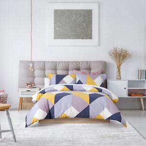 Dreamaker 250Tc Cotton Duvet Doona Quilt Cover Set Double Bed York Yellow