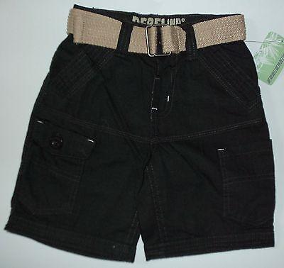 Boys Dark Khaki Green Shorts with Belt