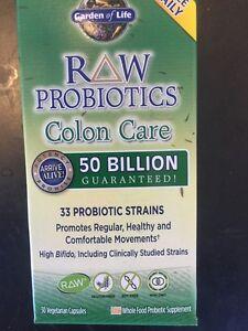 Garden Of Life Raw Probiotics Colon Care 30 39 S 50 Billion Guaranteed Gluten Free Ebay